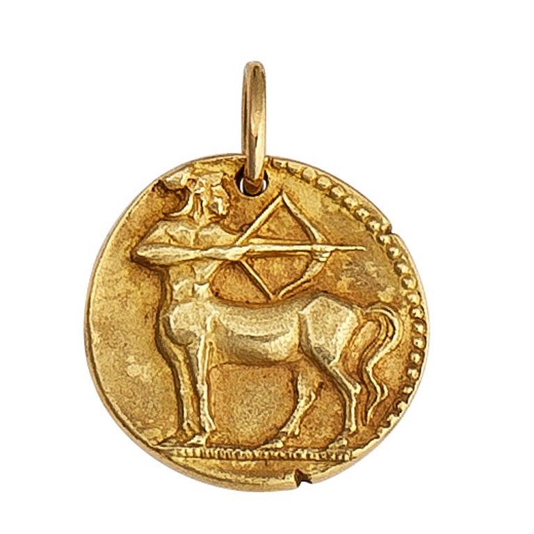 Van cleef and arpels sagittarius gold zodiac pendant charm at 1stdibs van cleef arpels sagittarius gold zodiac pendant charm 1 mozeypictures Images