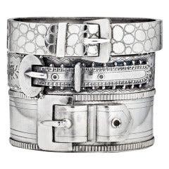 Victorian Sterling Silver Buckle Bracelets