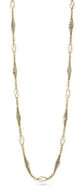 Machine Age Gold Coil Necklace 2