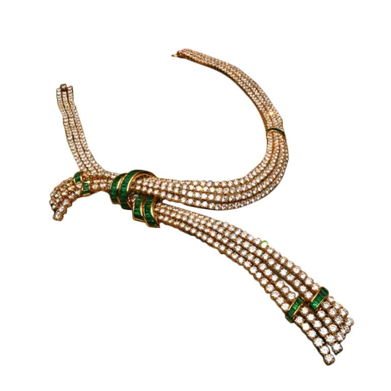 A Superb Gerard Emerald and Diamond Necklace