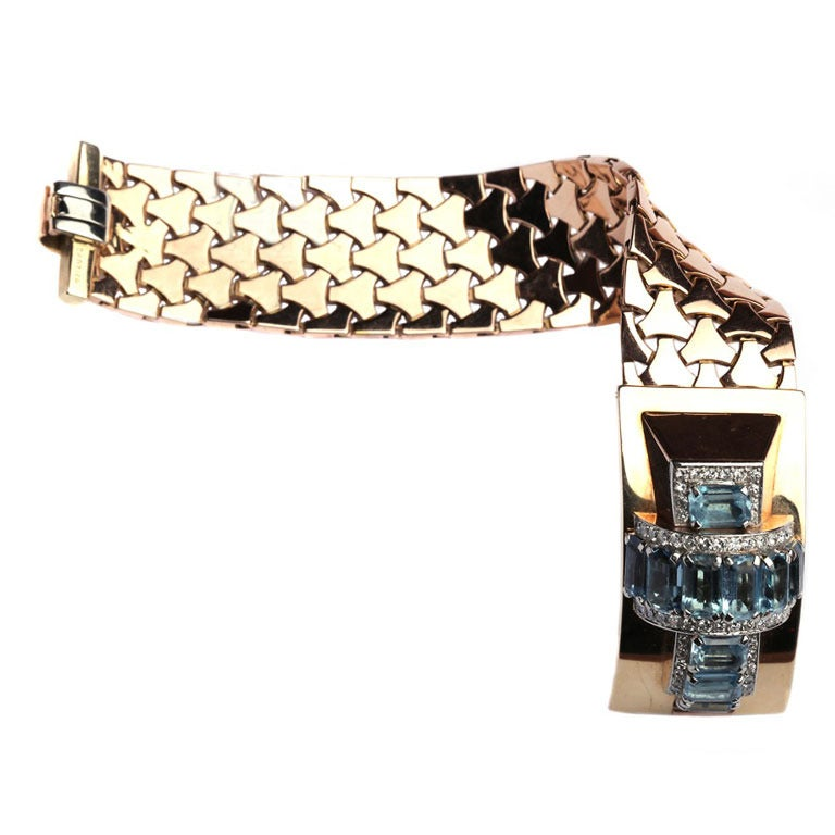 Cartier A 1940s Rose Gold Bracelet