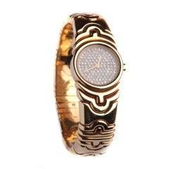 46794815884 BULGARI Lady s Yellow Gold Quadrato Square Wristwatch at 1stdibs
