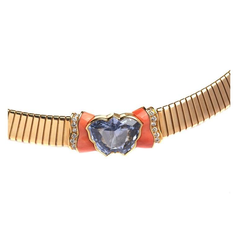 Bulgari Sapphire Tubogas Necklace