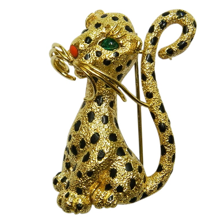 A Sophisticated Leopard Brooch By Van Cleef And Arpels At