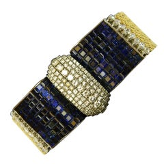 "An Extraordinary ""Invisible Set""  French Bracelet"