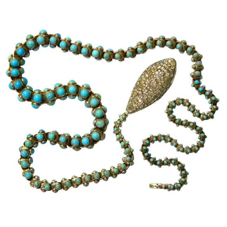 An Extraordinary Victorian Snake Necklace