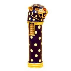 A Sophisticated Enamelled Gold Lighter by Frascarolo