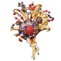 An Exquisite Van Cleef & Arpels Flower Brooch