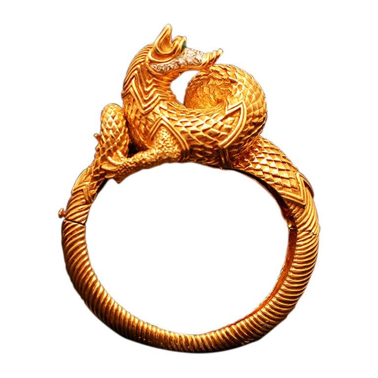 A Unique Fantasy Animal Bracelet By Tiffany At 1stdibs