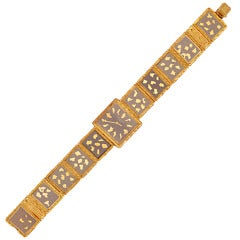 Patek Philippe Extremely Rare Lady's Yellow Gold Bracelet Watch