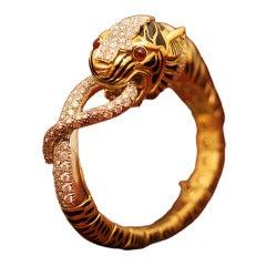 David Webb Tiger Bracelet