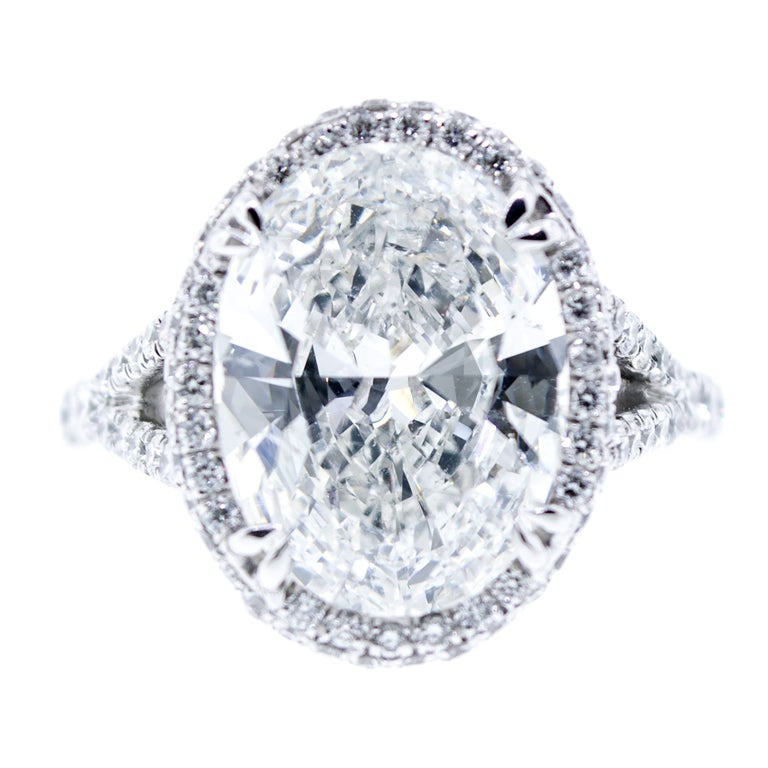 5 carat oval ring at 1stdibs