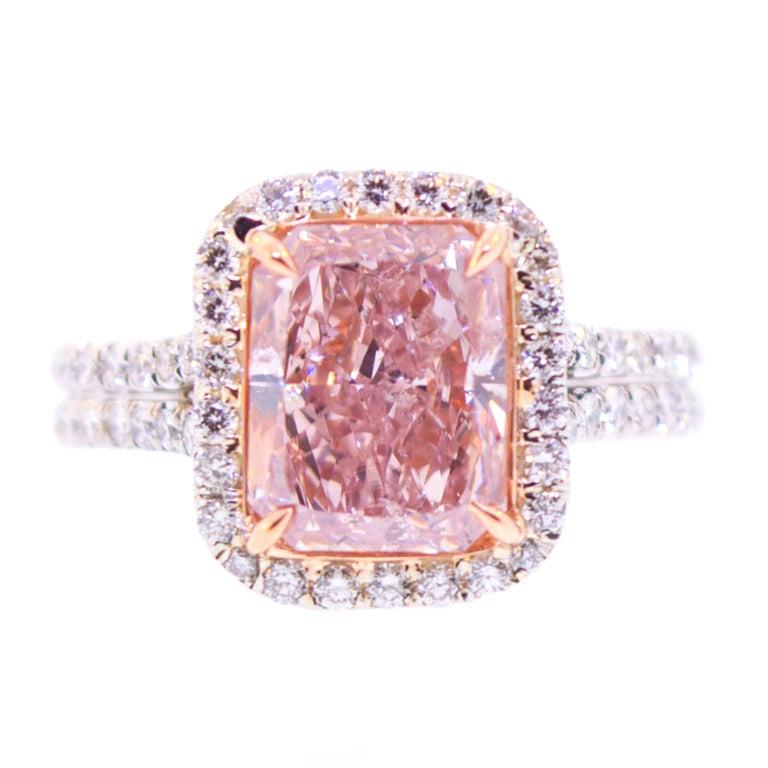 Three Carat Natural Pink Diamond Ring For Sale At 1stdibs