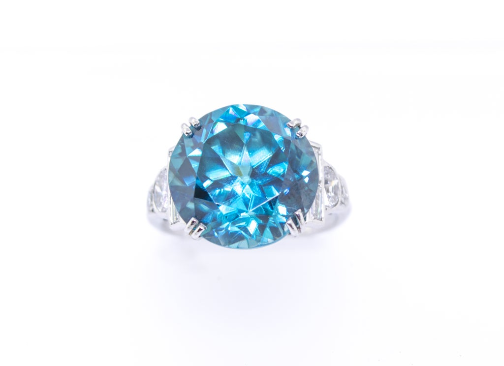 blue diamond wedding ring deco 13 carat blue zircon and ring circa 1925 1925
