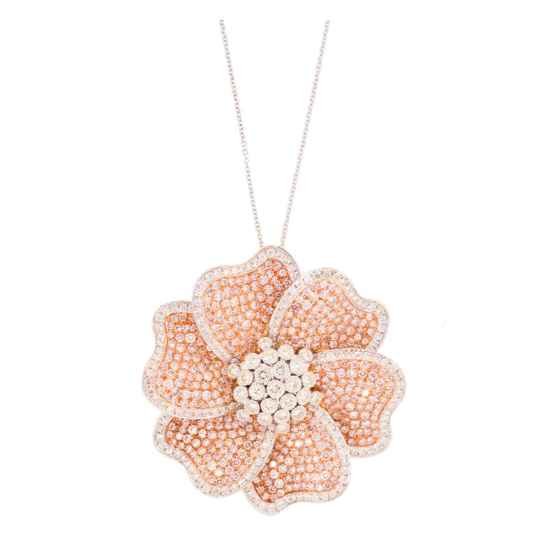 Pink Diamond Necklace Pendant and Pin image 2