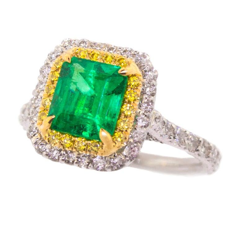 columbian emerald and ring at 1stdibs