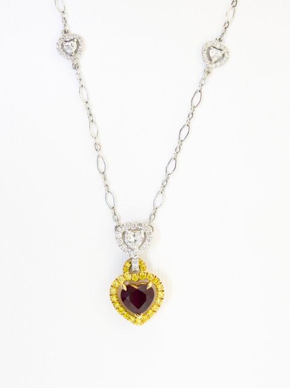 Stunning Burmese Ruby and Diamond Necklace 2