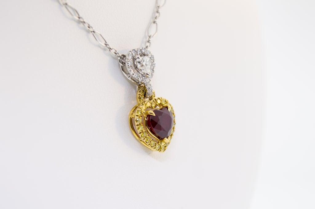 Stunning Burmese Ruby and Diamond Necklace 3