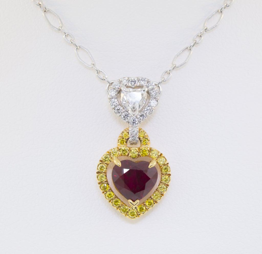 Stunning Burmese Ruby and Diamond Necklace 4