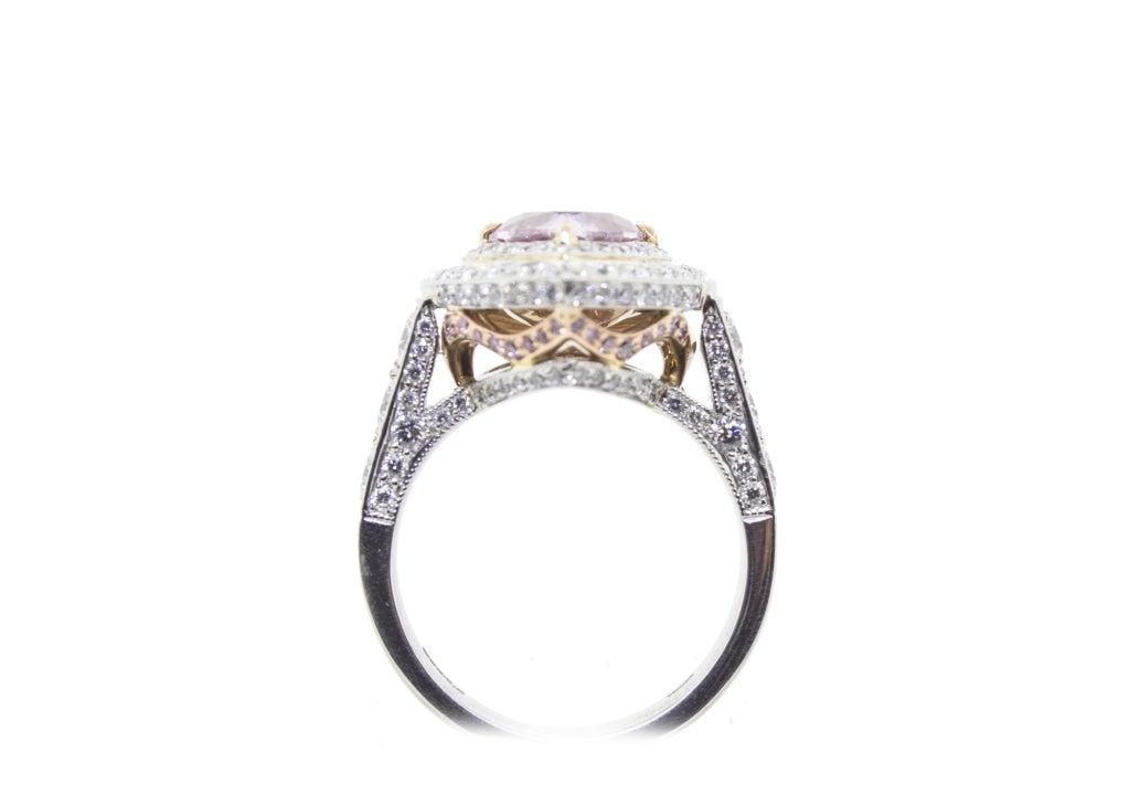 Women's Rare Fancy Intense Pink Diamond Ring