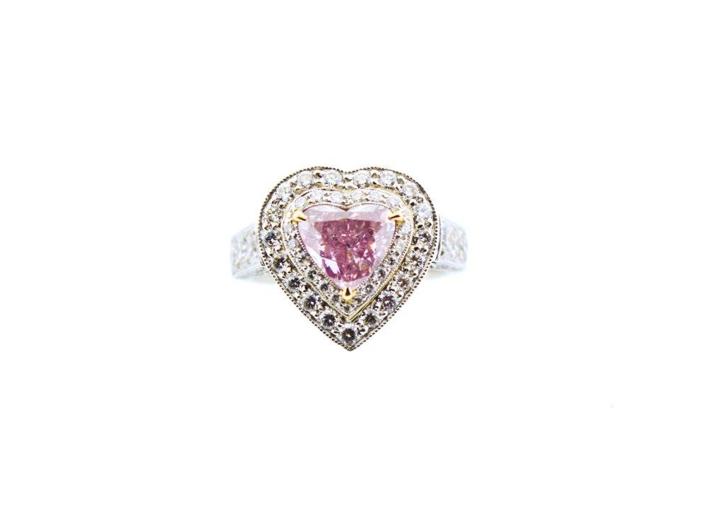 Rare Fancy Intense Pink Diamond Ring 1