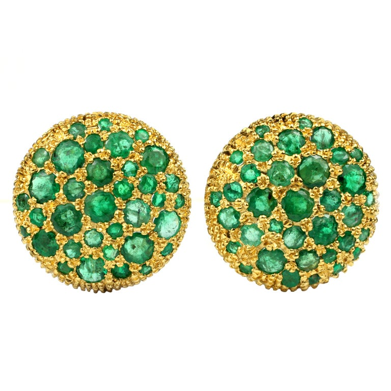 Emerald and 22kt Gold Earrings 1