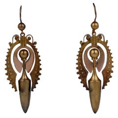 Lovely Victorian Gold Urn Earrings