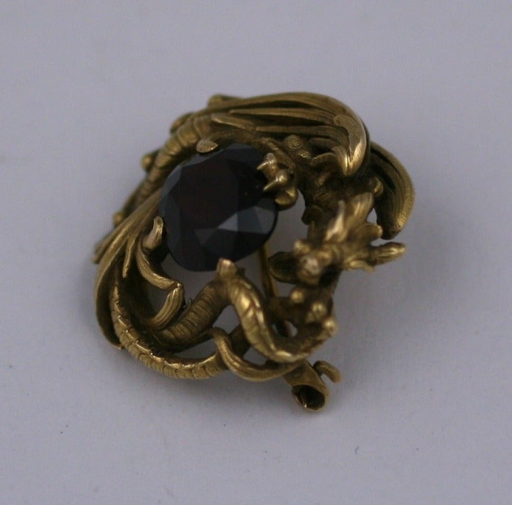 Gustav Manz for F. Walter Lawrence Art Nouveau Chimera Brooch 4