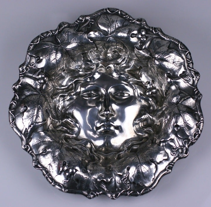 Art Nouveau American Silver Bowl For Sale 2