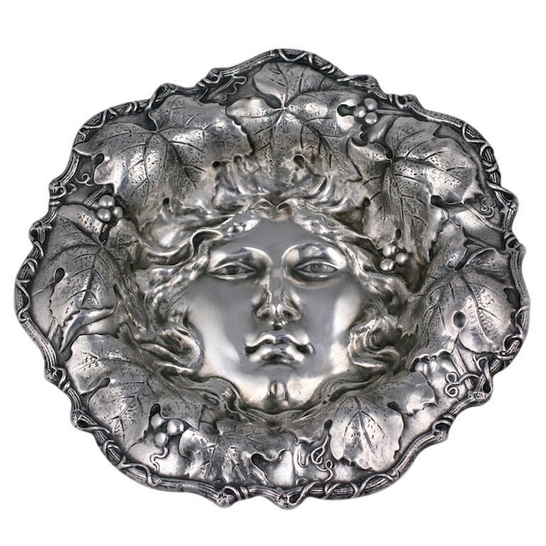 Art Nouveau American Silver Bowl For Sale
