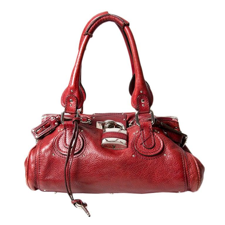 clhoe handbags - Chloe Paddington Bag Red at 1stdibs