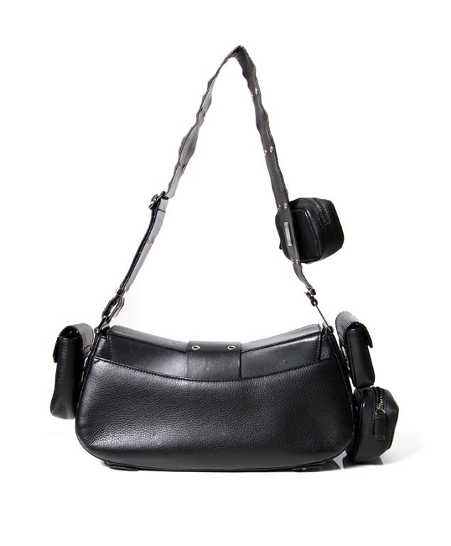 5d2ab0790181 Dior Street Chic Reporter Handbag Black Leather In Good Condition For Sale  In Antwerp