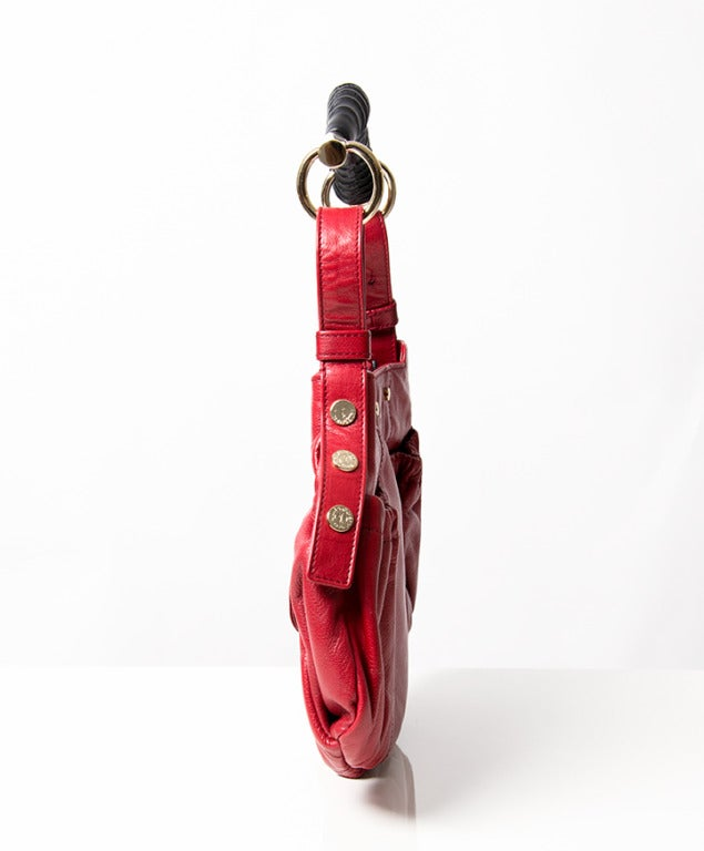 Yves Saint Laurent Red Leather Mala Mala Bag at 1stdibs