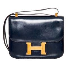 HERMES Constance Navy Blue Bag