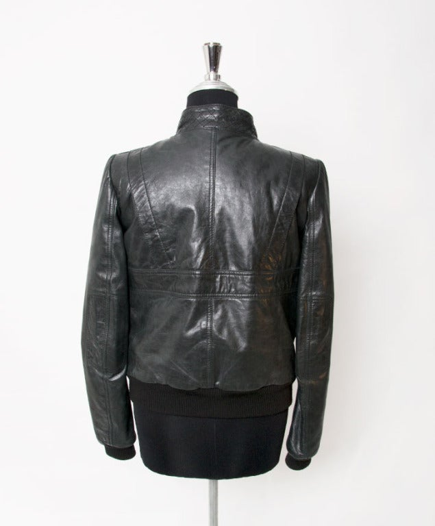Balenciaga Grey to Black Bomber Jacket In Excellent Condition For Sale In Antwerp, BE