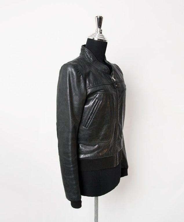 Women's Balenciaga Grey to Black Bomber Jacket For Sale
