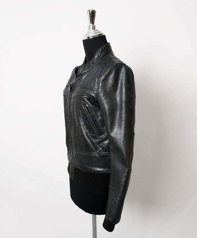 Balenciaga Grey to Black Bomber Jacket For Sale 1
