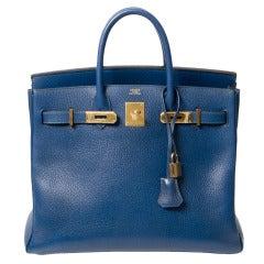 Hermès Blue Roi Birkin 32 HAC