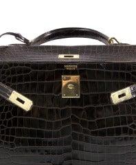 Hermes Brown Kelly 32 cm Crocodile Prosorus bag 5