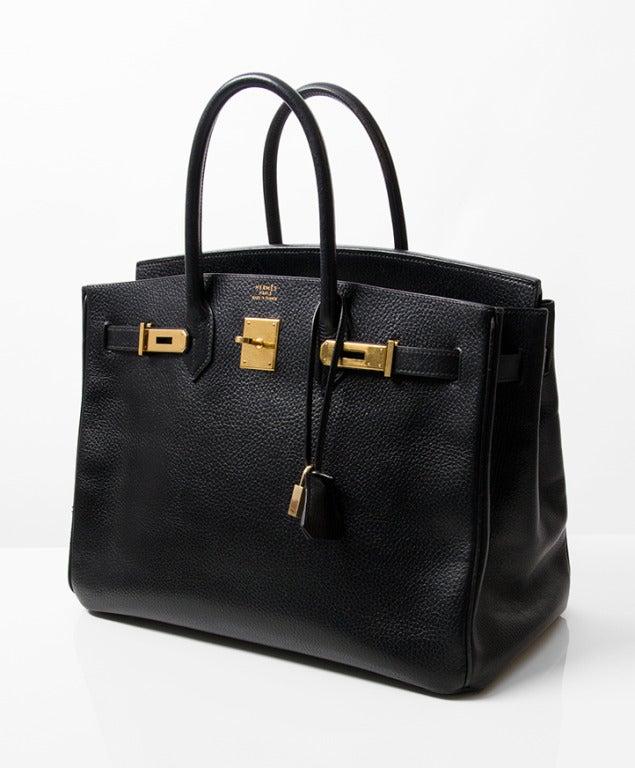 1a1839699067 Hermès Black Birkin 35 at 1stdibs