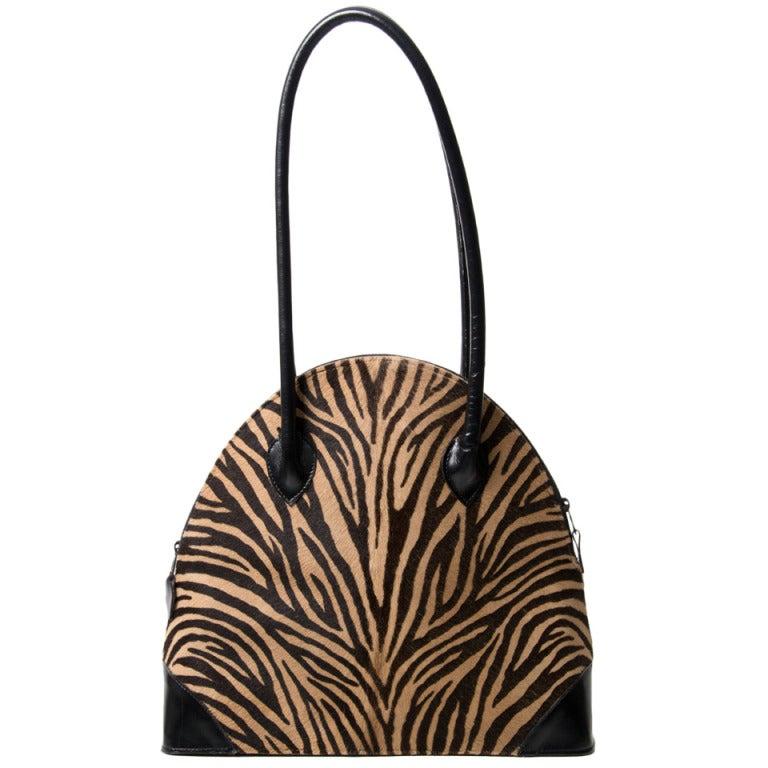 Zebra Print Shoulder Bags 90