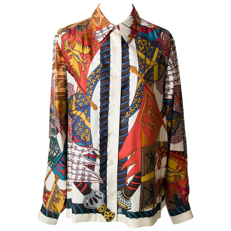 Silk Hermes Blouse 5