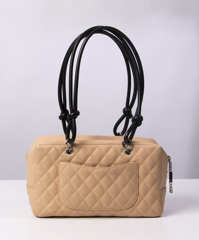 Chanel Cambon bag 30 cm in nude and black 2