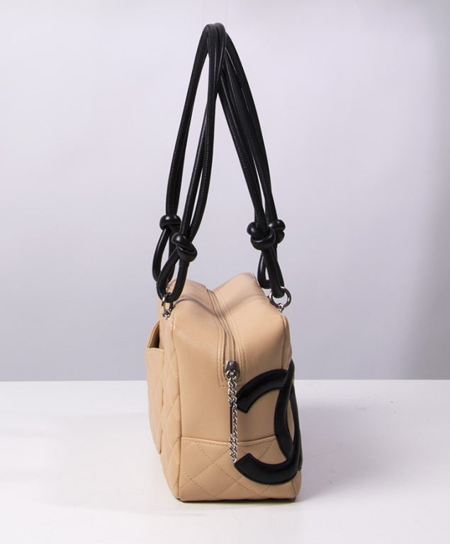 Chanel Cambon bag 30 cm in nude and black 3