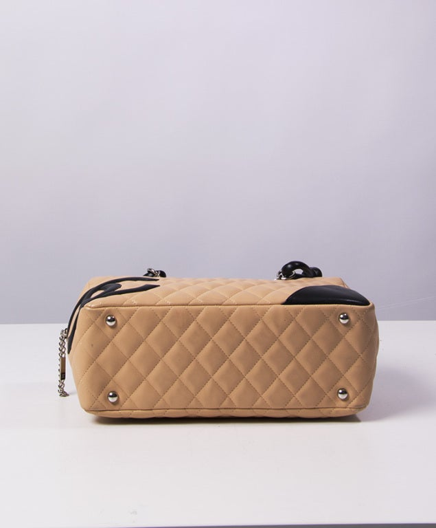 Chanel Cambon bag 30 cm in nude and black 4