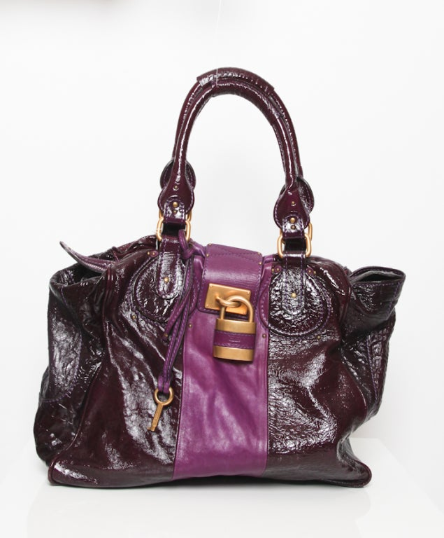 Chloé Two-Tone Purple Glazed Tote 2