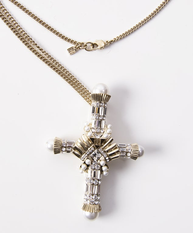 givenchy cross pendant necklace at 1stdibs