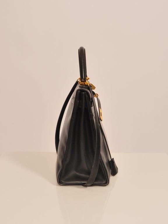 Hermes Kelly 35cm black boxcalf bag 2