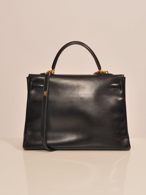 Hermes Kelly 35cm black boxcalf bag 3