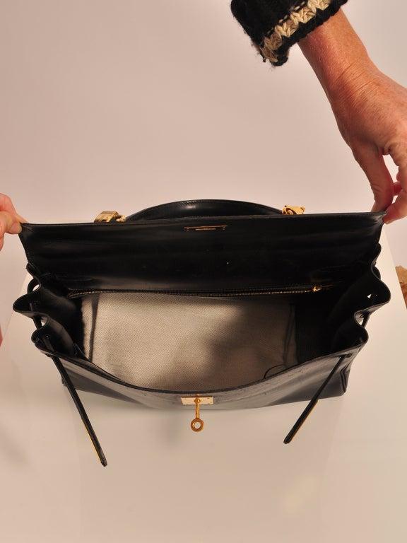 Hermes Kelly 35cm black boxcalf bag 4